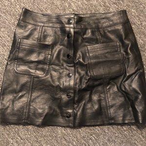 H&M leather like mini skirt